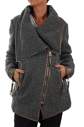 Maze Damen Mantel Pombal L Dark Grey