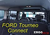 ERGOTECH Divisorio Griglia Rete Divisoria RDA65HBG-XXL kfd026, per Trasporto Cani e Bagagli.