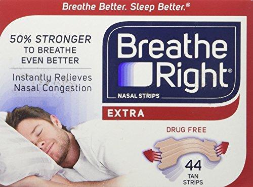 Breathe Right Extra Tan Drug-Free Nasal Strips, 44 P
