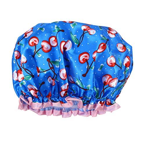 Beaupretty Bonnets de Douche Bonnet de Bain Imprimé Imperméable Double Couche Réutilisable pour Toutes Les Longueurs Et Épaisseurs de Cheveux Bonnets Noirs