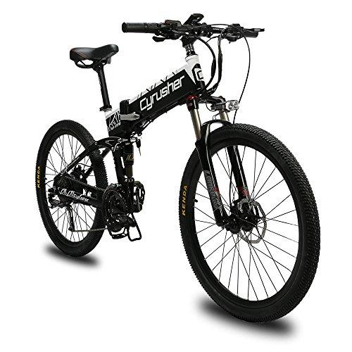 Extrbici Mountain Bike XF770 500W 48V 27 velocità Spoke Wheel Pieghevole Telaio in Lega di Alluminio Doppio Freno a Disco Idraulico Bicicletta elettrica
