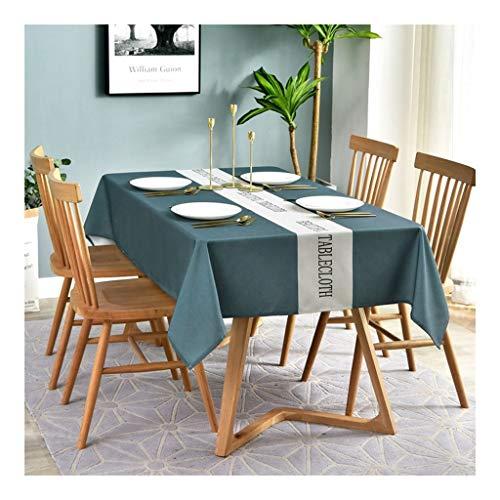 HZTWS Tischdecke rechteckig Multi-Size, geeignet for Tisch Konferenztisch Tisch Couchtisch Matte, Mehrzweck Blue Strip Tischdecke (Size : 100 * 140cm)