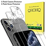 [4 Pack] QHOHQ 2 Pack Tempered Glass Screen Protector +2 Pack...