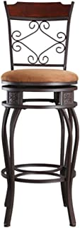 Silla de bar estilo retro giratorio de hierro forjado silla alta barra de respaldo alta barra mesa silla silla de comedor silla de cocina silla de café taburete de bar americano (tamaño: 79 cm)