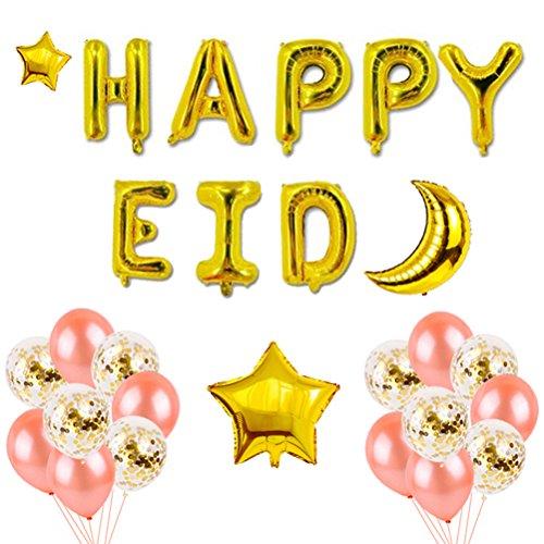 TOYMYTOY Happy Eid Mubarak Balloons Ramadan Bunting Party Dekoration