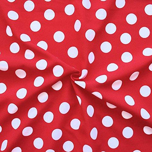 Stoff mit dem Muster Rot Weiß Gepunktet schön und günstig