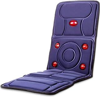 LKNJLL Masaje del amortiguador de asiento con calor - 10 motores de vibración, masaje de espalda for coche, silla del cojín del masaje for el dolor de espalda Alivio de coches y Home uso de la oficina