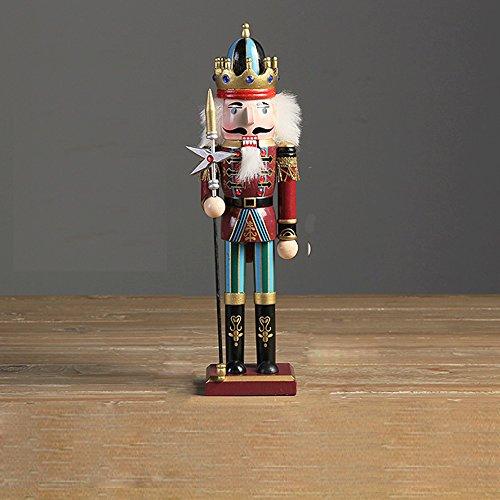 30 cm Nußknacker Nussknacker Handpuppe Figur aus Holz Weihnachten Dekor Soldaten Spielzeug--Lance