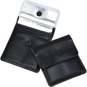 Lvcky 4pcs Poche cendrier Poche cendrier Mini cendrier Design Simple Ignifuge PVC-Odeur Gratuit-Portable Compact