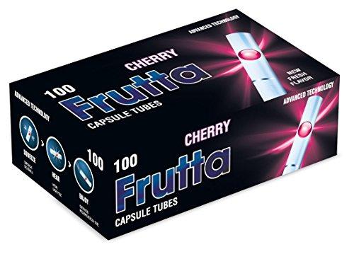 FRUTTA Click Hülsen Cherry Filterhülsen mit Aromakapsel 1 Box (100 Hülsen)