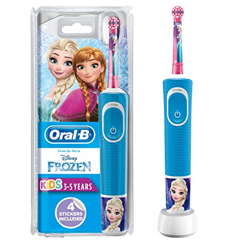 Oral-B Stages Power Kids Electric Rechargeable Toothbrush Featuring Frozen Characters, 1 Handle, 1 Brush Head, UK 2 Pin Plug for Ages 3+ (Packaging May Vary), Brush Away Easter Egg Treats