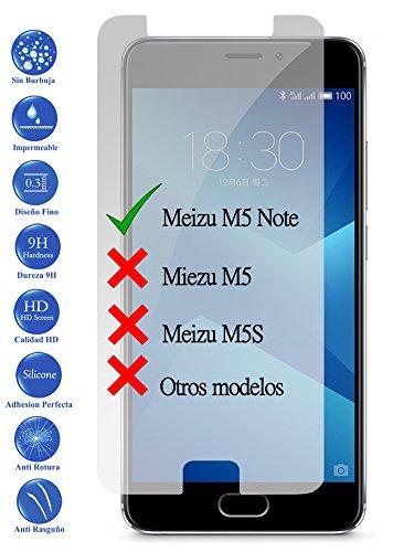 Todotumovil Protector de Pantalla Meizu M5 Note de Cristal Templado Vidrio 9H para movil