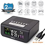 Alarm Clock Radio Color Screen - Digital Clock for Bedroom with Weather Forecast