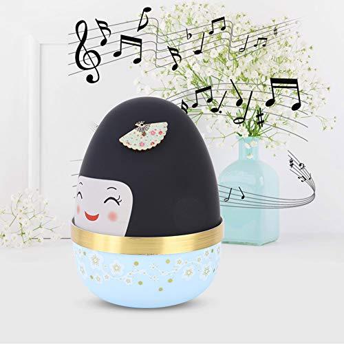 Weikeya Boîte à Musique, ABS et Mouvement de la Machine Fabriqué des œufs Ronds 9 x 13 cm Boîtes de Musique en Bois