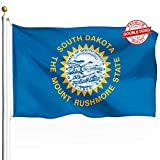 DFLIVE Double Sided South Dakota State Flag 3x5ft Heavy Duty 3 Ply Polyester SD State Flags Indoor and Outdoor Use