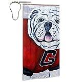 Shower Curtain,Georgia Bulldogs Mascot UGA X Katie Phillips,Printed Pattern Machine Washable Home Bathroom Decorations 72x36 in
