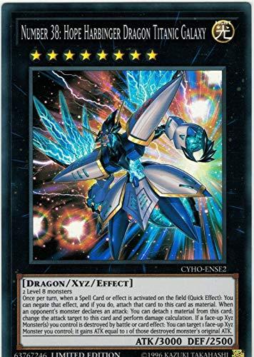 Yu-Gi-Oh! - Number 38: Hope Harbinger Dragon Titanic Galaxy - CYHO-ENSE2 - Super Rare - Limited Edition - Cybernetic Horizon