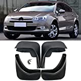 ROYAL STAR TY Mud Flaps 4pcs Coches Auto Set Guardabarros Guardabarros Fender Mudflaps Delantero y Trasero for Citroen C5 2008-Adelante