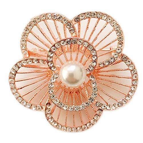 Cosanter Broche De Alta Calidad Broche De Camelia Ramillete De Perlas Se Puede Usar Con Abrigo Abrigo Vestido Aleación