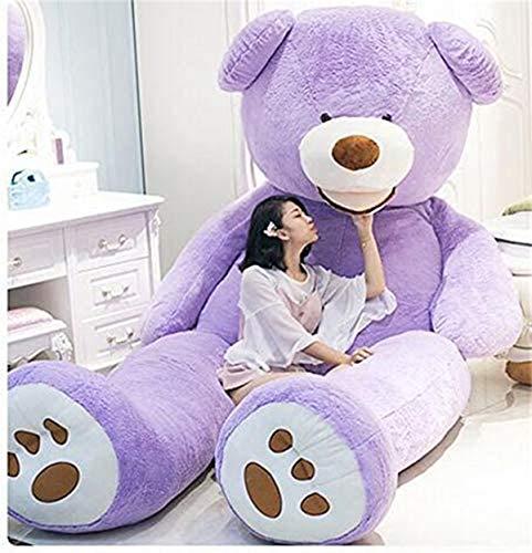 HYAKURIぬいぐるみ  くま クマ 熊 テディベア 抱き枕 クッション 特大 かわいい オシャレ お祝い (パープル, 100)