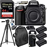 Nikon D750 DSLR Camera (Body Only) & Deluxe Accessory Bundle (Renewed)