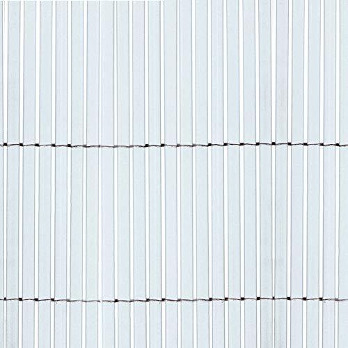 Canniccio Sintetico a Canne Intere da 7 mm, Schermante Frangivista, Tenax Colorado, Colore Bianco 1,00 x 5 m