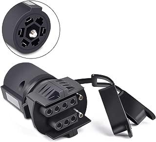 COROTC 7 Way to 4 Way 5 Way Trailer Light Adapter, 7 Pin Round to 4 Pin 5 Pin Flat Blade Trailer RV Boat Connector Plug