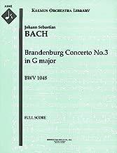 Brandenburg Concerto No.3 in G major, BWV 1048: Full Score [A1002]