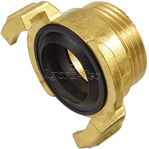 Agora-Tec® Messing Schnellkupplung mit 1 Zoll (33,3 mm) Außengewinde Kupplung mit Schnellverschluss