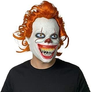 Iminicam Horror Clown Joker Evil Teeth IT Chapter 2 Naturl Latex Clown Mask for Scary Halloween Chritmas
