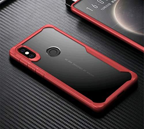 Funda Rígida Transparente Xiaomi Redmi Note 5 Rojo
