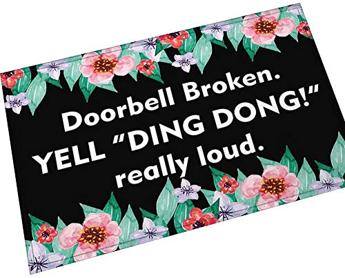NA Doorbell Broken.Yell Ding Dong!Really Loud.Funny Door Mat Baby Velvet Welcome Mat Home Decor 40x60cm
