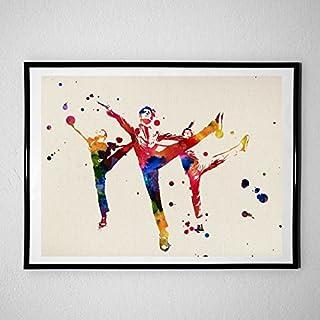 Nacnic-prints voor het ontwerp van de decoratieve wandpanelen van West Side Story. Aquarel style sheets. Laminae om foto's...