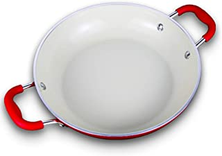WYZQ Paellera de Aluminio, Revestimiento Antiadherente, Adecuada para Todas Las Fuentes de Calor, incluida la inducción, la Cocina de inducción a Gas y la Olla fácil de Limpiar / 26 CM