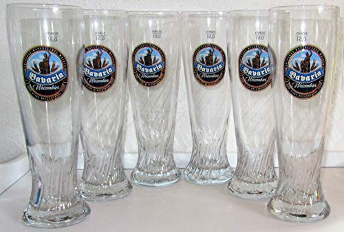 Sahm / Weißbiergläser/Original / 6 X 0,5 Liter/Weizengläser/Bavaria/Gläser/Glas/Biergläser