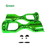 YAVOCOS Green 6.5 inch Chrome Outer Plastic Cover Case Shell Replacement Smart Self Balance Wheel Balancing Electric Scooter Spare Parts
