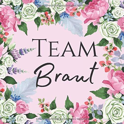 Team Braut: JGA Erinnerungsalbum in pink mit 50 Seiten für eure Glückwünsche, Fotos und vieles mehr | Gästebuch Jungesellinenabschied
