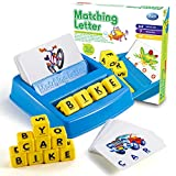 Learning Games for Kids Ages 3-8, Matching Letter Game for Kids Toys Ages 3-8 Educational Toys for 3-8 Year Olds Boys Girls Alphabet Puzzle Birthday Easter Gifts for 3-8 Year Old Boys Girls (Blue)