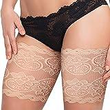 lencyotool Bandas De Encaje para Los Muslos Lace Thigh Stockings Bandas Anti-Rozaduras para Los Muslos Calcetines Antideslizantes hasta El Muslo para Mujeres