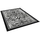 Pergamon Teppich Modern Trendline Schwarz Weiss Zebra in 4 Größen - 2