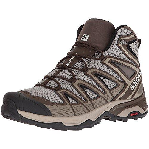 Salomon Men's X Ultra Mid 3 Aero Hiking Boots, Vintage Kaki/Wren/Black, 12.5