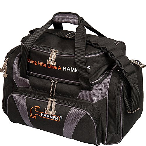 HAMMER Premium Deluxe Double Tote Bowling Bag, H906-50, Black/Carbon, Einheitsgröße