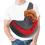 MELARQT Hundetasche, Tragetasche Hund, Tragetuch Hundetasche für Kleine Hunde, Katze Haustier Hand Schleuderträger Schultertasche Verstellbare Gepolsterte Schultergurt Hundetragebeutel