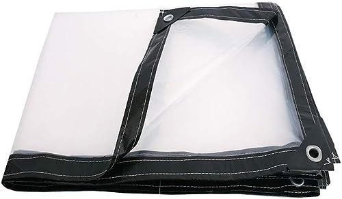 WQQTT-Tarpaulin Tissu imperméable épaissi Bache Transparent épaississant Liseret Plastique poreux bache imperméable fenêtre Balcon Culture de Serre Film Tissu imperméable épaissi (Taille   4  4m)