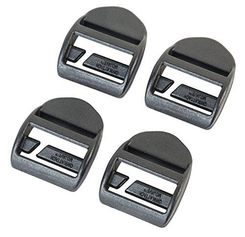 AceCamp 7052 Duraflex Quick Attach Spannschlösser (4 Stück), schwarz, 25 mm