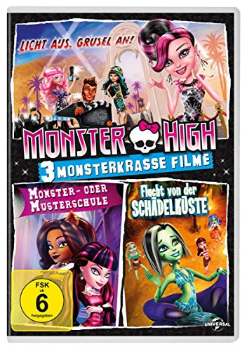 Monster High: 3 monsterkrasse Filme [3 DVDs]