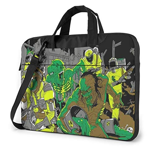 JINfjapafg Music Municipal Waste Stylish Customized Laptop Shoulder Bag, Suitable for 13-15.6 inch MacBook Pro/Air and Most Other Laptops, Portable Laptop Bags, Briefcase Protective Covers
