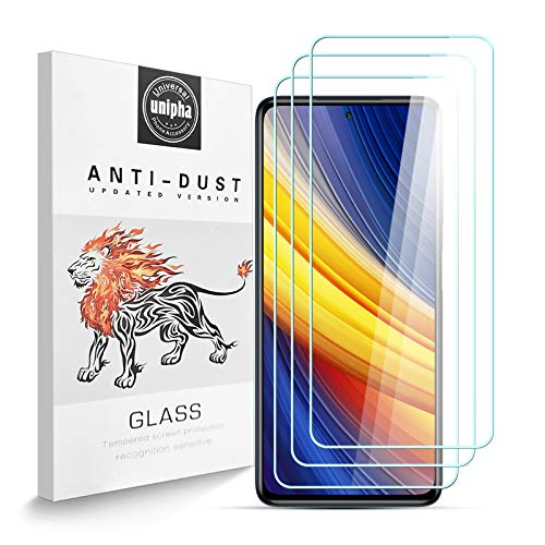 Zidwzidwei Protector de Pantalla para Xiaomi Poco X3 Pro [3-Pack], Vidrio Templado de 9H Dureza, 2.5D Alta Definicion Alta Sensibilidad, Sin Burbujas Xiaomi Poco X3 Pro Protector de Pantalla