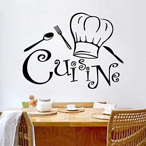 Adhesivos de vinilo para pared para decoración del hogar de la cocina