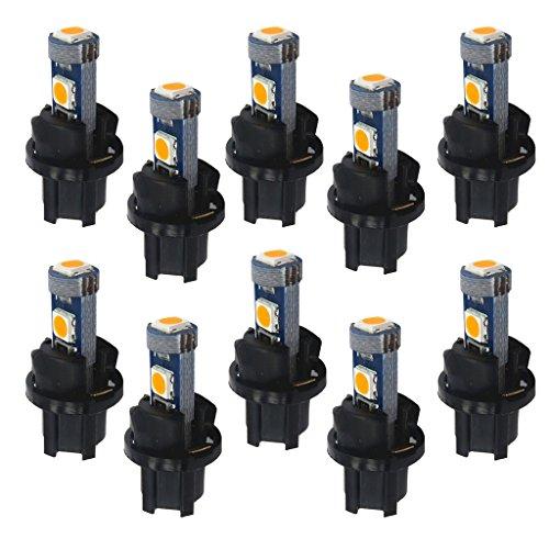 Sharplace Voiture T5 3030 Tableau De Bord LED Lumière avec Douille 10pcs - Jaune